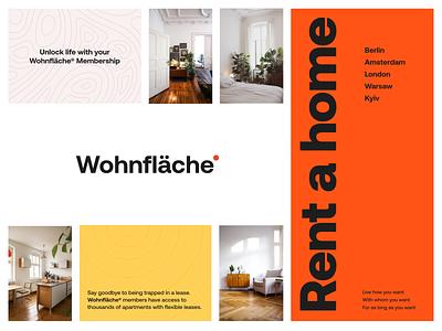 Wohnfläche® | Concept Board graphic design ux interface ui moodboard style style exploration design unikorns branding logo