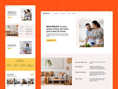 Wohnfläche® | How it works Page branding flat apartment lease interior landing subsription unikorns application app design ux interface ui
