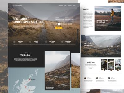 Incredible Scotland fireart website booking scotland map tour ui landing travel