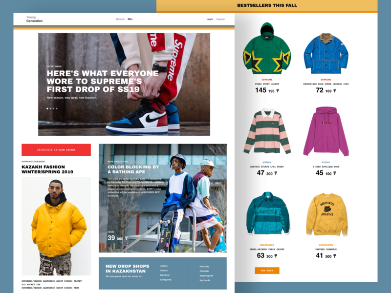 Online Shop - Main ecommence design web interface ux ui