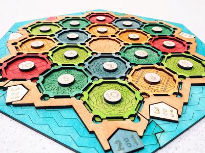 Settlers of Catan - Lasercut Edition settlers of catan catan laser cut woodworking boardgame handmade