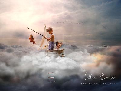Above The Clouds design photoshop surrealism digital art photomanipulation