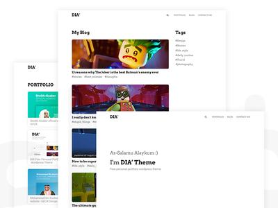 DIA - free minimal personal wordpress theme