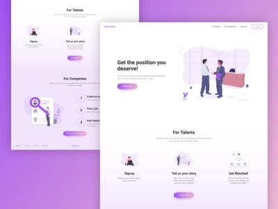 Talentaitans • Landing page