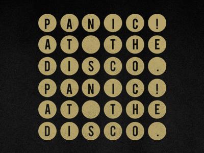 Panic Dribbble panic! at the disco fakexfake design shirt