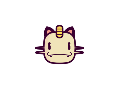 Miau sticker draw icon illustration pokemon