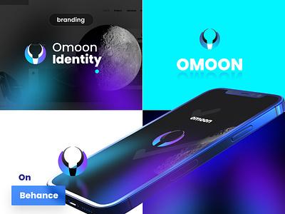 Omoon identity gradient identity figma affinity designer graphic design design vector illustration branding web design logo ui