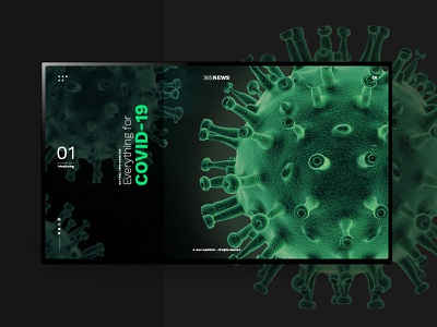 UX/UI Template _ Covid-19 News Website green news virus landing page adobe xd prototyping prototype ux ui design ux  ui ui ux news website landingpage landing covid19 covid-19 template