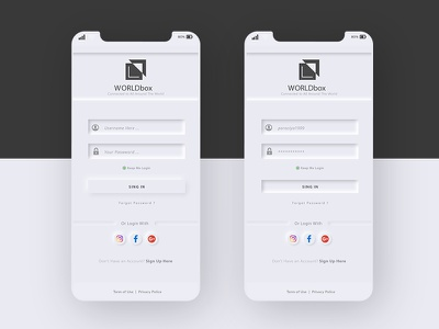 Login screen user interface mobile ui mobile app ux clean login screen login ux  ui ui
