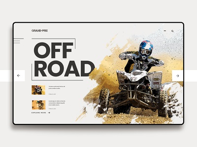 User interface for Grand Prix web design website offroad uidesign color background fun cool design inspiration user interface design landing page design landing cover design landing page ui user interface
