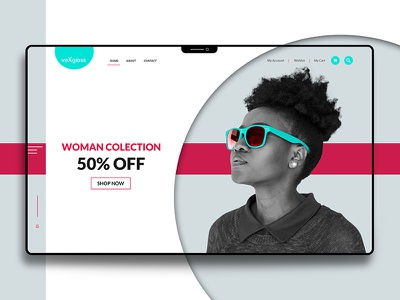 UX/UI _Landing page for VeXglass clean website fun abstract background user interface design cool abstract colors landing design user interface landing page design ui landing cover landing page color abstract background design