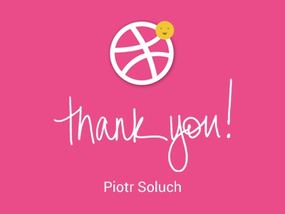 Thank you for dribbble invite