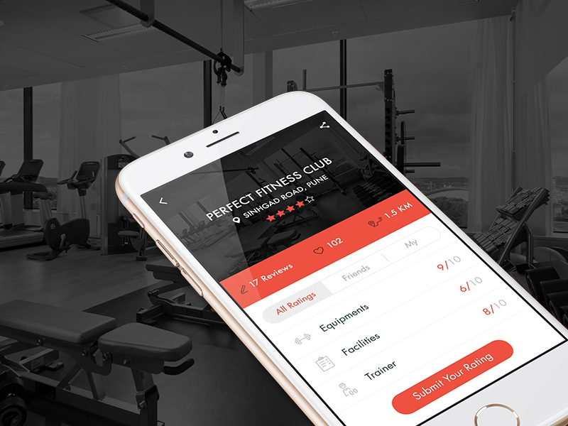 Gym Rating and Review app by Ask Designs 🐟 on Dribbble