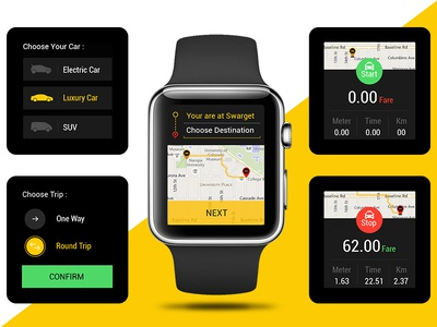 Concept Taxi App for iwatch