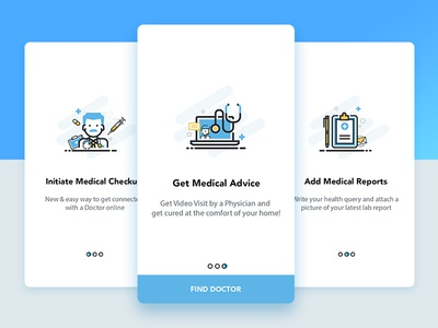 Find a Doctor app Onboarding