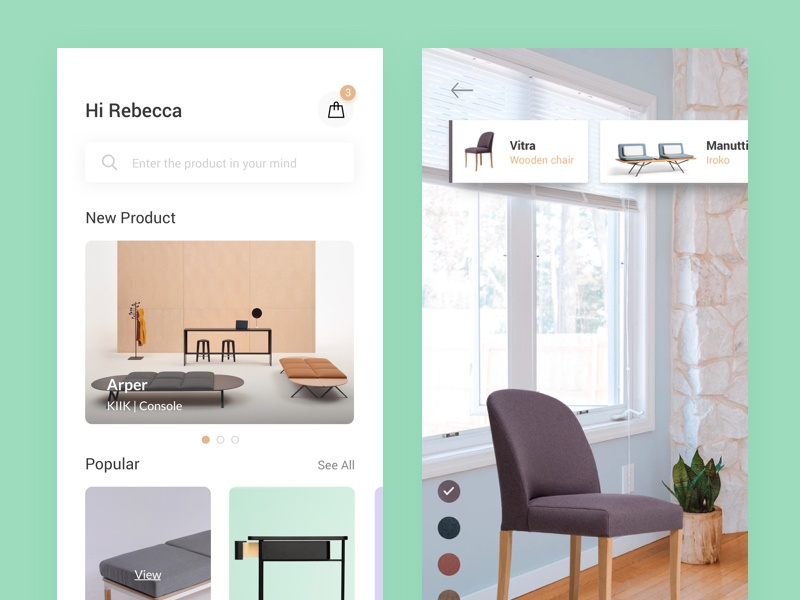 Furniture App Concept With AR by Ask Designs 🐟 on Dribbble
