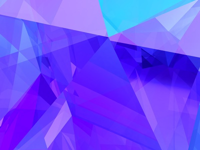Daily Render 002 - Aspect (Remix) blue purple c4d facet crystal abstract 3d