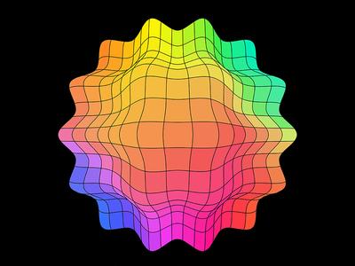 Colorpong.com - Geometric geo geometry facettes spectrum 3d object grid mesh figure colorful color geometric