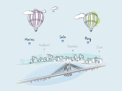 Splash Screen Illustration - Mumbai