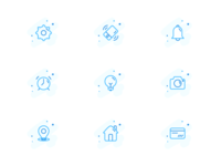 Icon set for a new app
