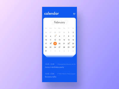 A Schedule App schedule animation mp4 iphonex app iphone blue clean design ui