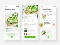 a vegetarian app design