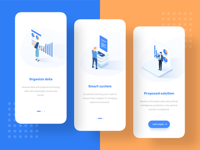 Illustration guide page illustration blue clean iphonex guide pages ui