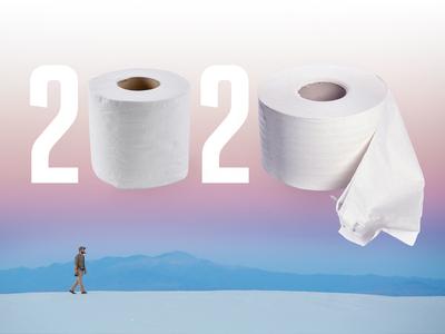 2020 Toilet Paper minimal purple gradient thumbnail design coronavirus virus toilet paper 2020