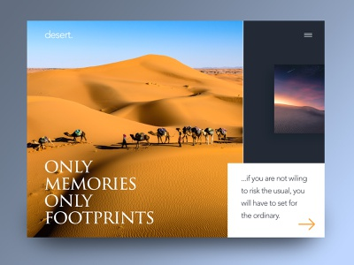Desert motivational camel design ux ui sand orange hot desert