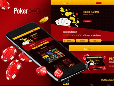 Poker Go - Casino & Gambling Online poker player online gradient golden glossy games gambling gambler casino