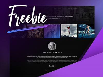 Plum - Freebie webdesign design template website graphics photoshop psd free file freebie free