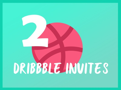 2x Dribbble Invites invites graphic ux ui illustration design dribbble giveaway draft invitation invite