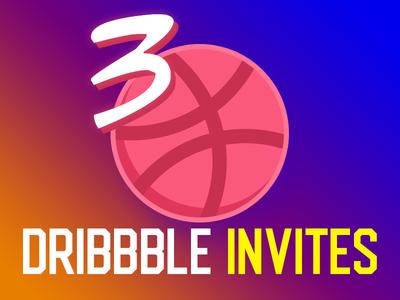 3 Dribbble Invite Giveaways invites graphic ux ui illustration design dribbble giveaway draft invitation invite