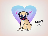 Pug Illustration Dribbble