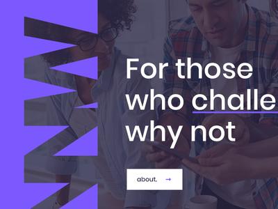 Innwit Creative Agency Website graphic web creative purple branding ux ui landing page website agency