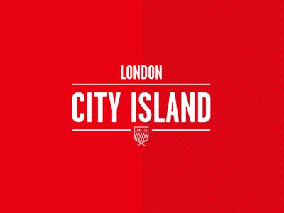 London City Island graphic photoshop red web design website branding ux ui island city london