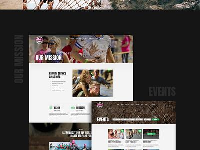 MudRace - Event Fundraising graphics ux ui photoshop psd event run marathon race mud