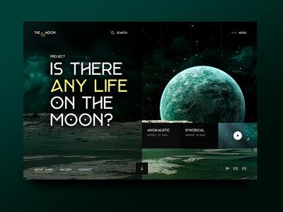 Life on the Moon dark spaceman terra earth ux ui universe stars space green planet moon