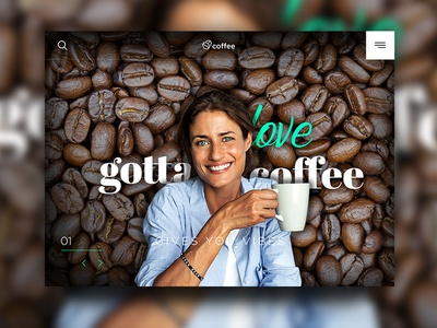 Coffee Lovers design web brown green ux ui love beans coffee