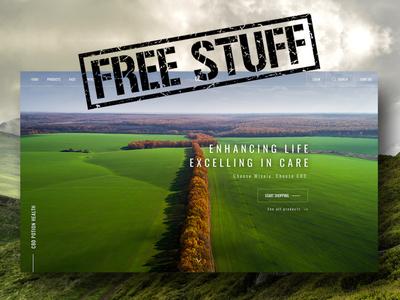 CBD Freebie PSD shop ecommerce landing page website ux ui giveaway free file free freebie cbd