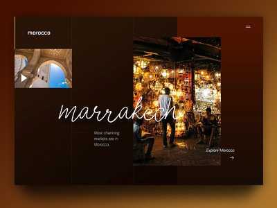 Marrakech Morocco gold brown branding gradient creative web page website design ux ui morocco marrakech