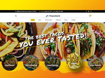 Tacos Food Truck Taqueria eating eat orange theme restaurant vegetarian vegan food yellow tacos