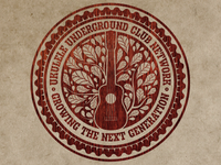 Ukulele Underground Badge Sticker | First Draft
