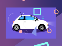 Fiat 500 illustration