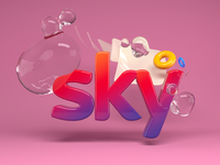 Sky spectrum bubble water