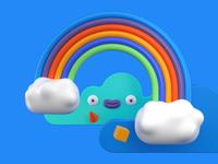 Rainbow clouds exploration