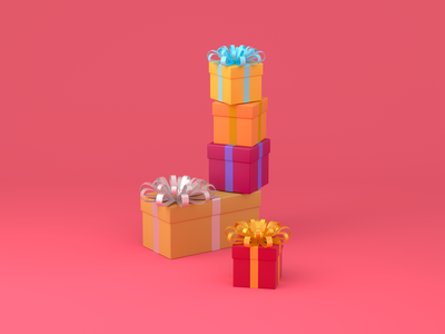 Christmas gift exploration c4d 3d christmas gift exploration