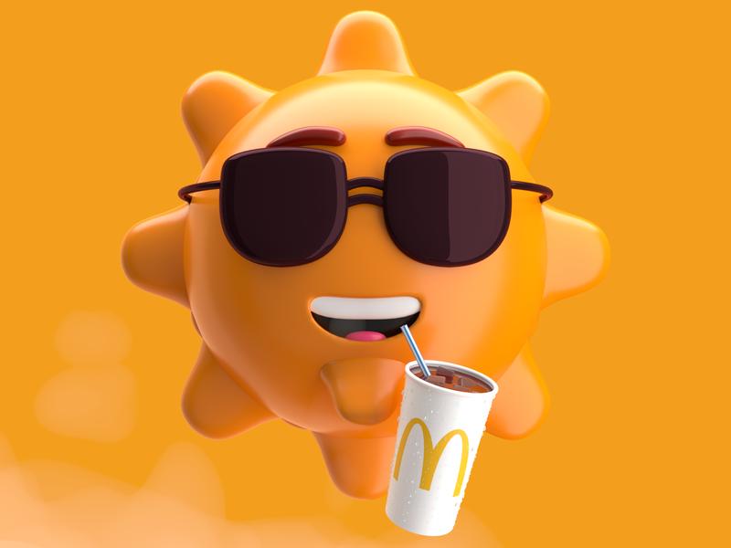 Sunglasses coke corona c4d 3d cocacola character yellow mcdonald coke sun sunglasses exploration
