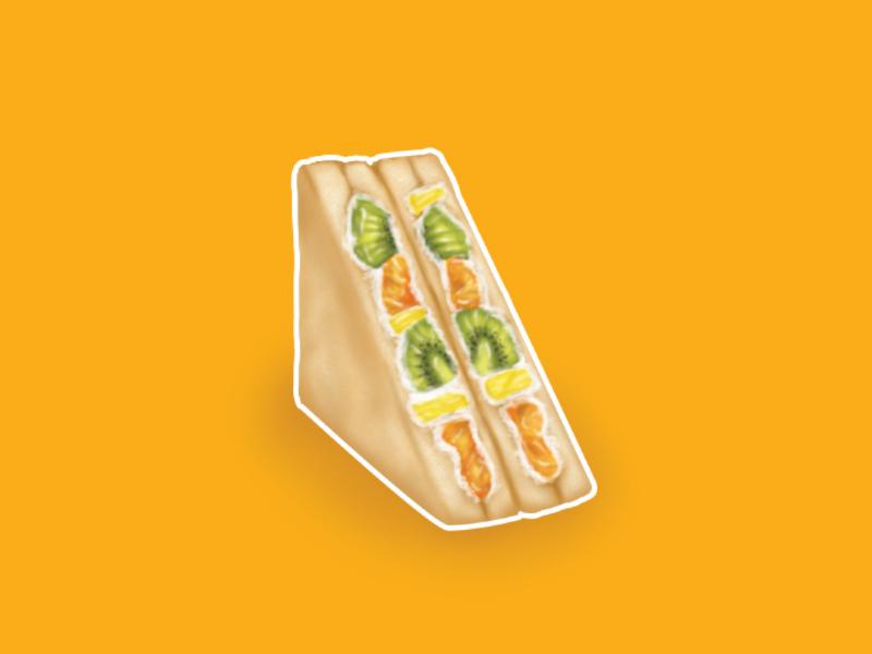 Morning sandwich eat  zandwich illustraion  breakfast food and drink food drawing digital painting art