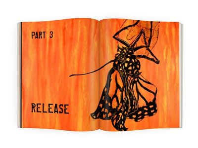 Release - Double Page Spread double page spread butterfly graphic design typography layout book illustration